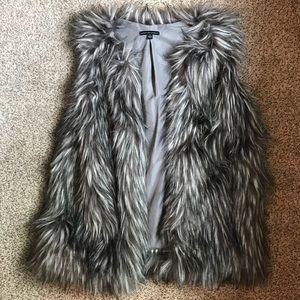 Other - Grey Faux Fur Vest